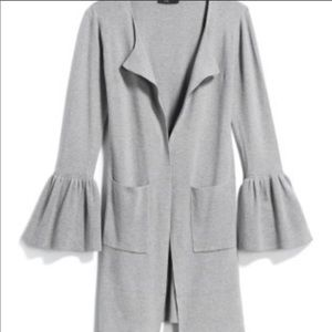 ⭐️ Fate Soft Gray Open Cardigan with bell sleeves